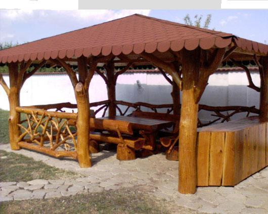 modele de foisoare din lemn rotund